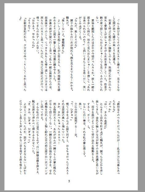 小説同人誌のワード設定見本6(A5/36P)