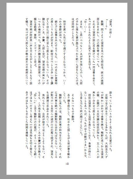 小説同人誌のワード設定見本12(A5/104P)
