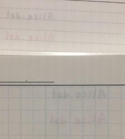 Edit週間ノートとtorinco(トリンコ)の裏映り比較