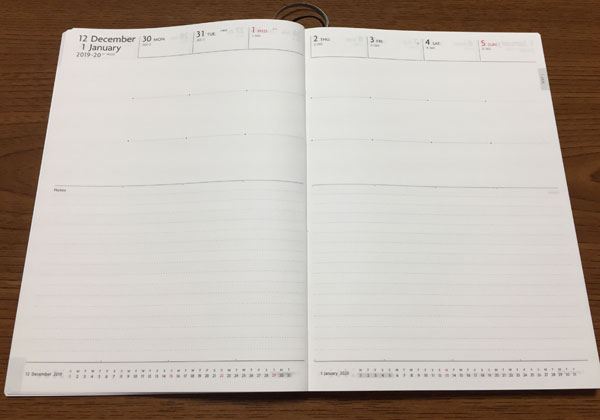 Edit週間ノートバーチカルページ
